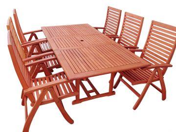 Zahradní dřevěný nábytek set 1+6